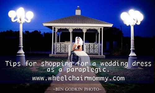 wedding dress for a paraplegic