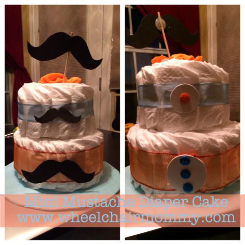 Diaper Cakes Part 2: Mini Mustache and Pirate