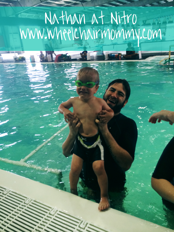 Nathan's first swim lesson at nitro.