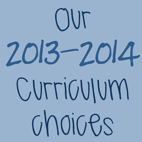 Our 2014-1015 curriculum choices