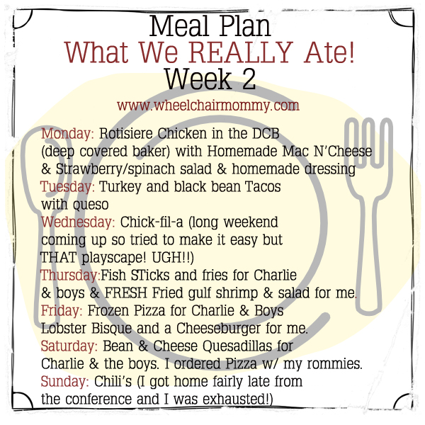 Meal Plan Monday: What we REALLY ate, Week 2