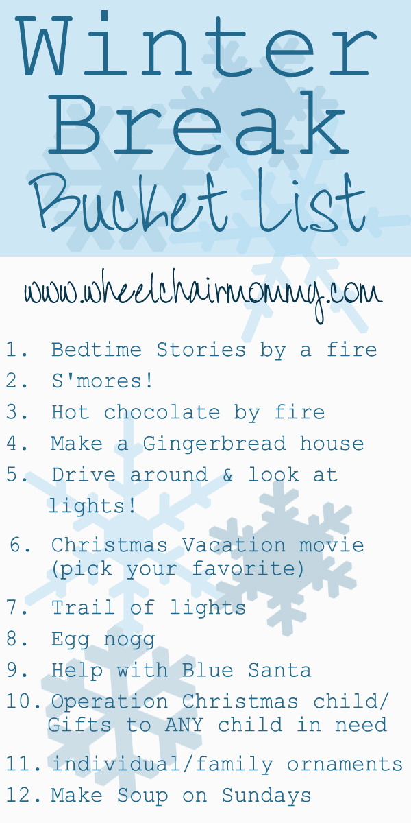 Our winter break bucket list