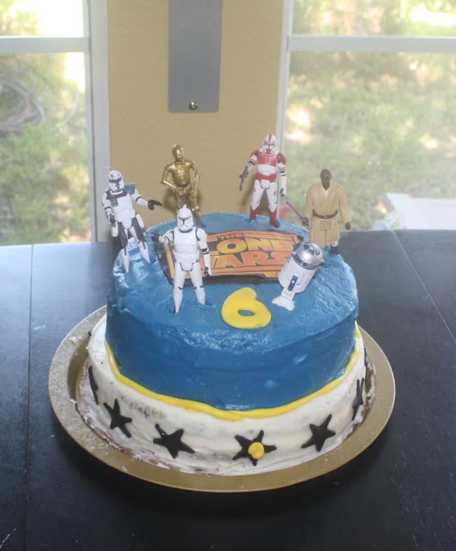 star wars clone wars cake