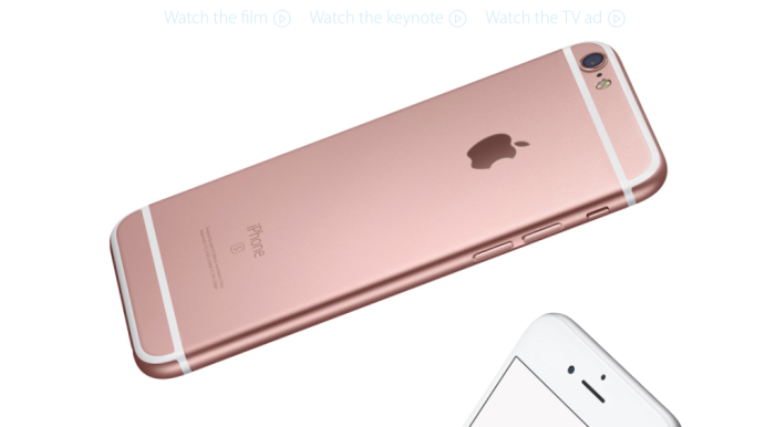 pink gold iPhone