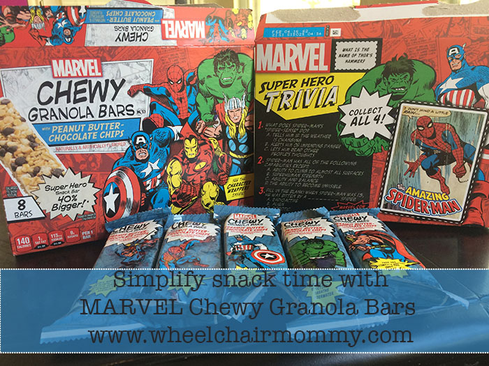 Simplify Snack time with Marvel Chewy Granola Bars