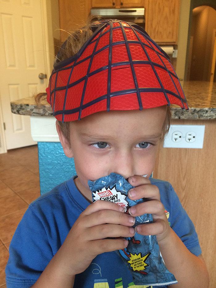spiderman marvel granola