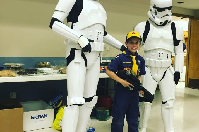 Storm troopers crashed our Blue and Gold Banquet